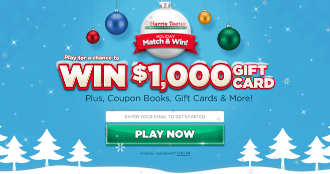 Harris Teeter Holiday Match & Win Sweepstakes (HolidayMatchAndWin.com)