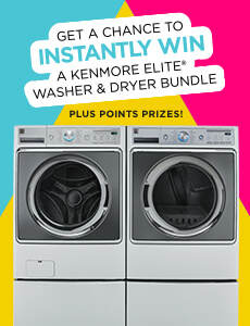Shop Your Way Kenmore Elite Washer Dryer Bundle Instant Win Game