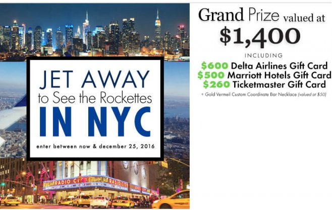 Eve's Addiction Jet Away to See the Rockettes in NYC Sweepstakes