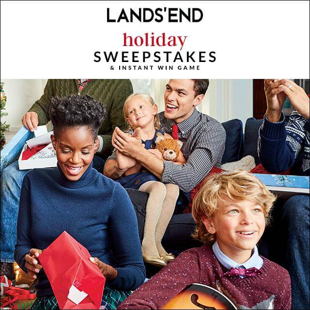Lands' End Holiday Sweepstakes 2016 (LandsEnd.com/HolidaySweepstakes)