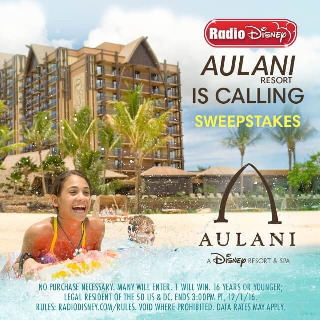 Radio Disney Aulani Is Calling Sweepstakes