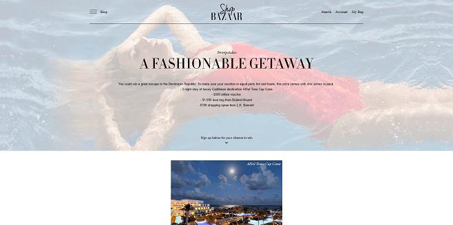 Harper's Bazaar A Fashionable Getaway Sweepstakes