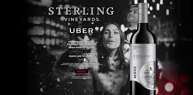 Sterling Vineyards and Uber Sweepstakes