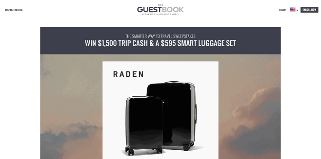 Guestbook Rewards, Inc. Travel Smarter Sweepstakes