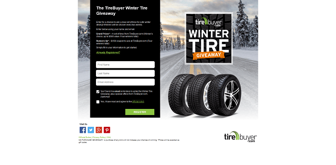 TireBuyer Winter Tire Giveaway