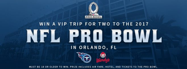 Wendy's Pro Bowl Weekend Sweepstakes