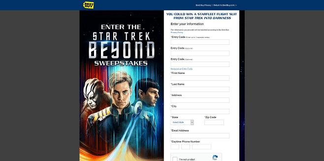 Best Buy Star Trek Beyond Sweepstakes