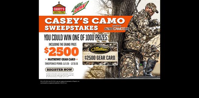 Casey's Camo Sweepstakes
