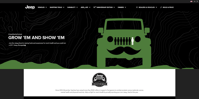 Jeep Movember Contest