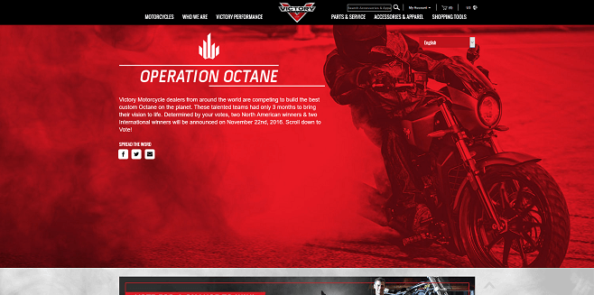 Victory Motorcycles Operation Octane Sweepstakes
