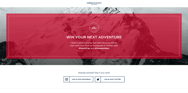 AEO #WeAllCan Adventure Together Instant Win Game