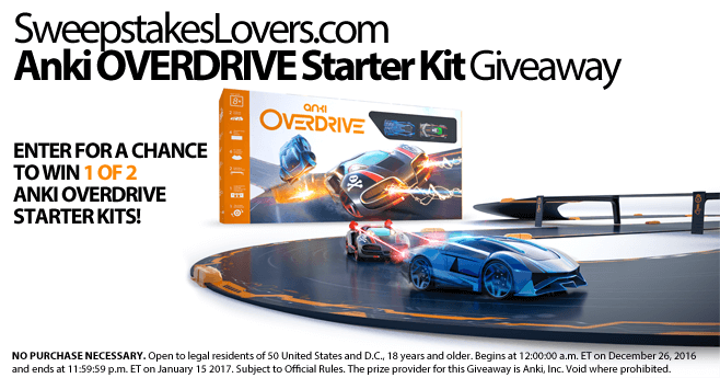 SweepstakesLovers.com Anki OVERDRIVE Starter Kit Giveaway