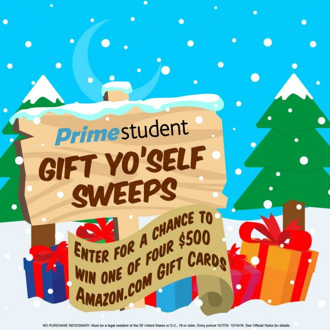 Amazon Prime Student's Gift Yo'self Sweepstakes