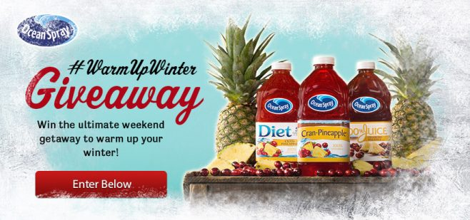 Ocean Spray Warm Up Winter Giveaway
