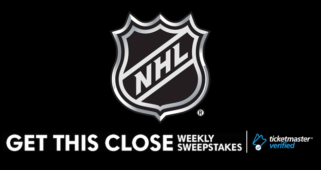 NHL Get This Close Weekly Sweepstakes (NHL.com/GetThisCloseSweeps)
