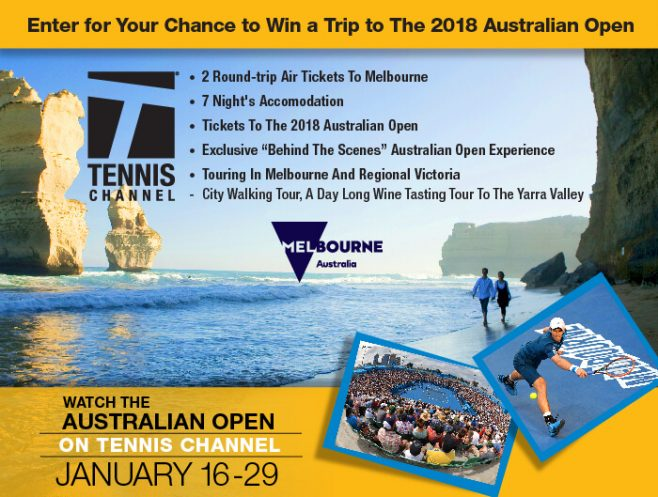 Tennis Channel's 2018 Australian Open Trip Giveaway