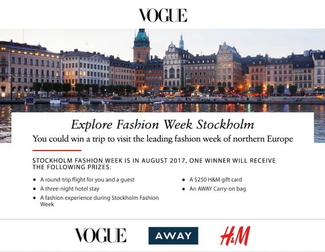 Vogue Stockholm Sweepstakes