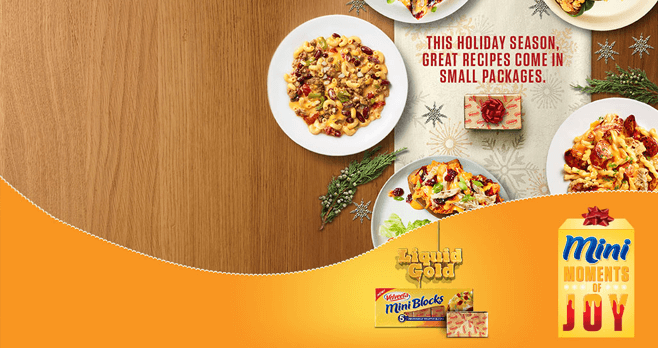 VELVEETA Mini Moments Of Joy Sweepstakes (Velveeta.com/MiniMoments)