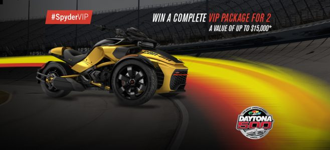 BRP Be VIP with Can?Am Spyder Sweepstakes
