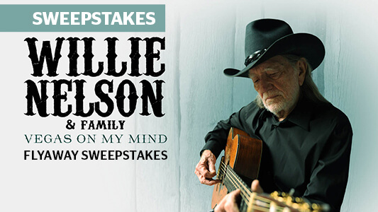 CMT Willie Nelson & Family Vegas On My Mind Flyaway Sweepstakes