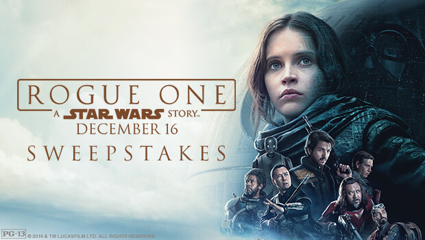 Fandango Rogue One: A Star Wars Story Sweepstakes