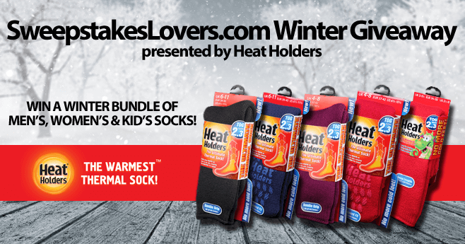 SweepstakesLovers.com Winter Giveaway presented by Heat Holders