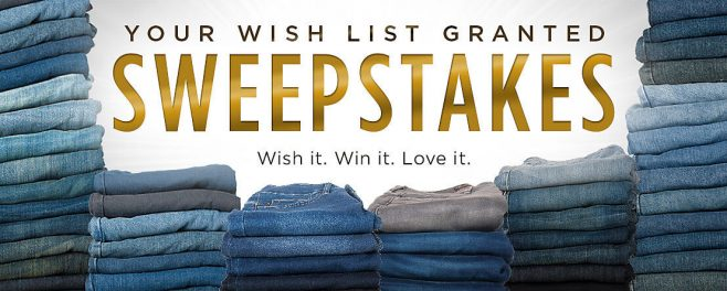 Lee's Your Wish List Granted Sweepstakes