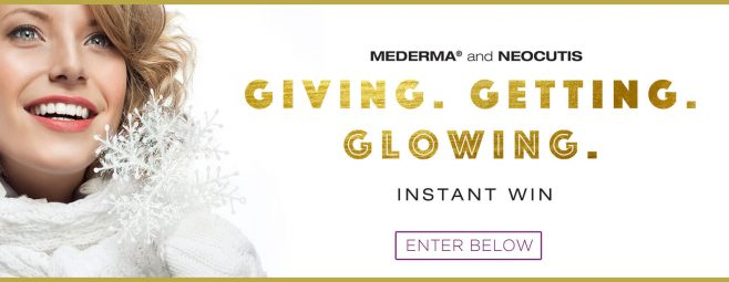 Mederma and NeoCutis Giving. Getting. Glowing Instant Win
