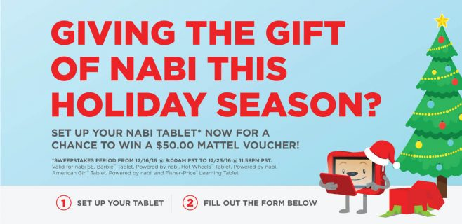 nabi Holiday Sweepstakes