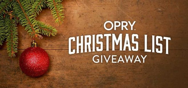 Opry Christmas List Giveaway