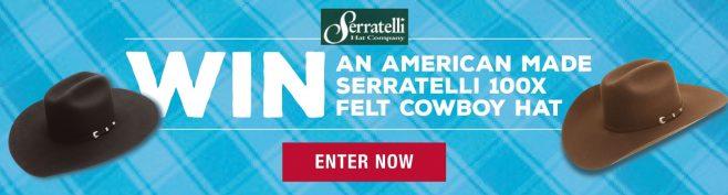 PFI Serratelli 100X Felt Cowboy Hat Giveaway