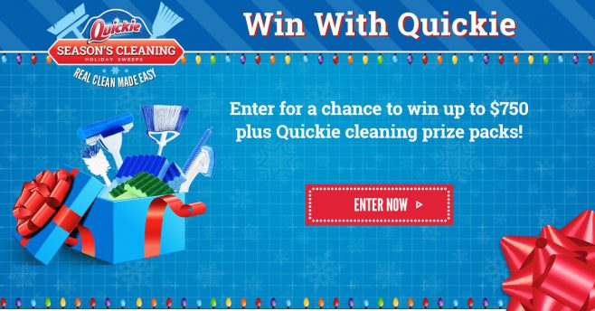 Quickie Real Clean Made Easy Season's Cleanings Holiday Sweepstakes
