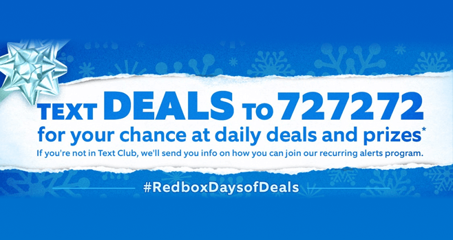 Redbox Holi-Days Of Deals Giveaway (Redbox.com/HolidaysOfDeals)