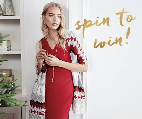 Banana Republic Factory Store Spin to Win Sweepstakes