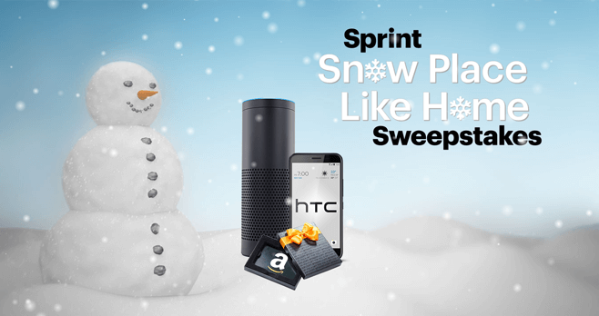 Sprint Snow Place Like Home Sweepstakes (Sprint.com/SnowSweepstakes)