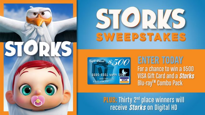 Warner Bros. Storks Sweepstakes