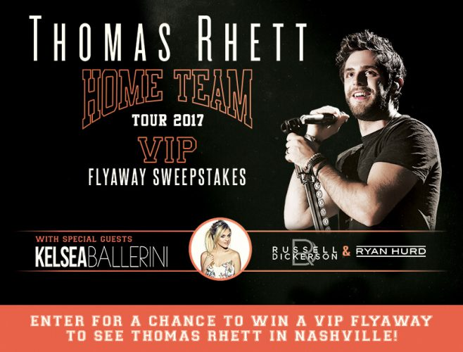 Live Nation Thomas Rhett VIP Flyaway Sweepstakes