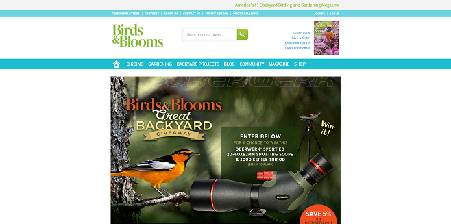 Birds & Blooms Great Backyard Giveaway