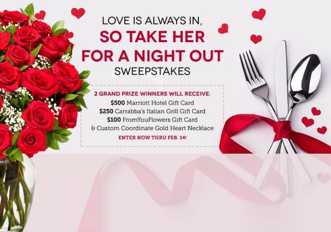 From You Flowers Love Is Always In, So Take Her For A Night Out Sweepstakes