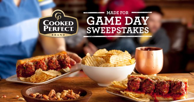 Cooked Perfect Made For Game Day Sweepstakes