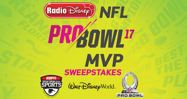 Radio Disney NFL Pro Bowl MVP Sweepstakes