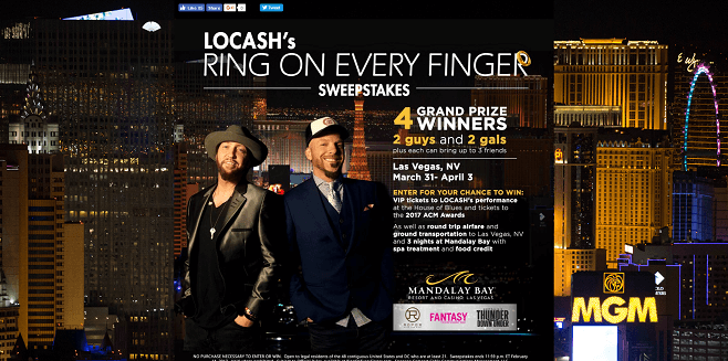LOCASH's Ring On Every Finger Sweepstakes