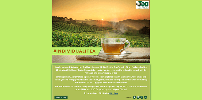 #IndividualiTEA Photo Sharing Sweepstakes