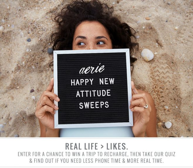 Aerie Happy New Attitude Sweepstakes
