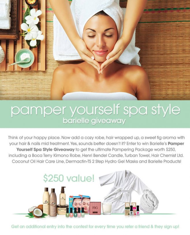 Barielle Pamper Yourself Spa Style Giveaway