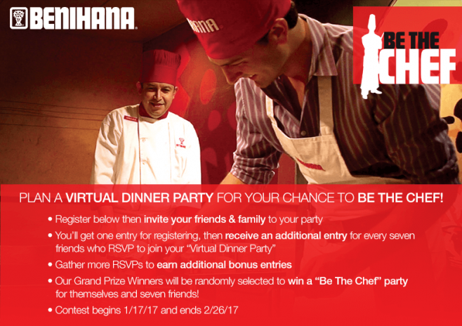 Benihana Be the Chef Virtual Dinner Party Contest