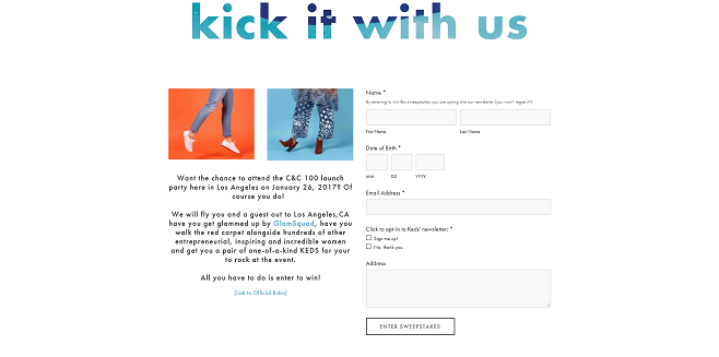 Keds X Create & Cultivate Sweepstakes