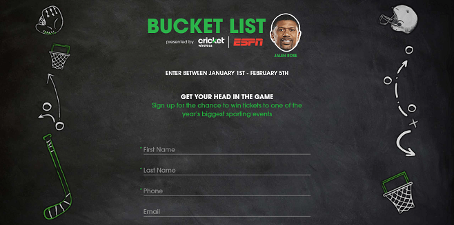 Cricket/ESPN Bucket List 2017 Sweepstakes