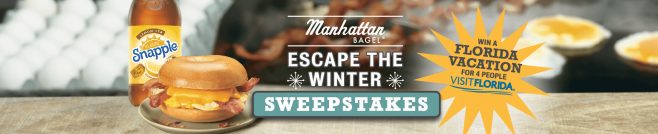 Manhattan Bagel Escape the Winter Sweepstakes