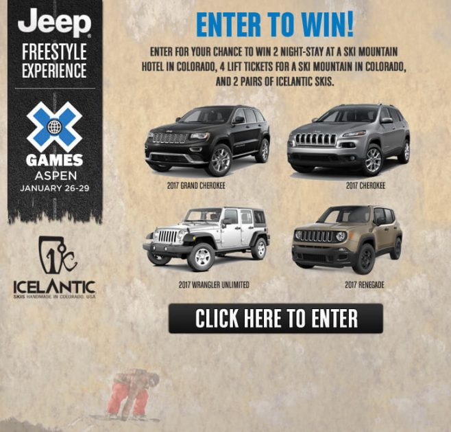 Jeep Freestyle Experience Sweepstakes